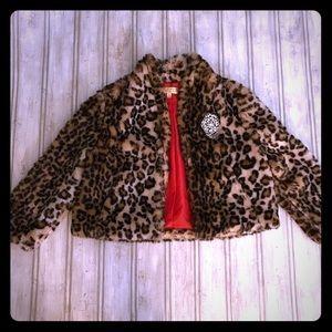 Princess Vera Wang Faux Cheetah Fur Jacket